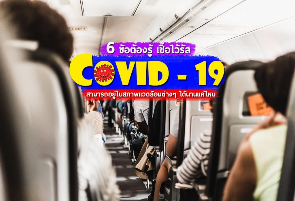 เชื้อไว้รัส Covid - 19 อยู่ได้นานแค่ไหน